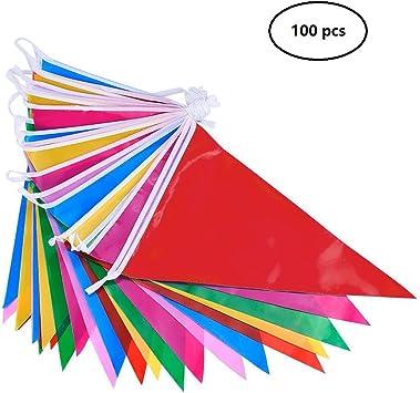 DoGeek Banderines Fiesta Multicolor Banderines de Tela Banderines ...