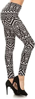 Leggings Depot Women's Ultra Soft Printed Fashion Leggings BAT11