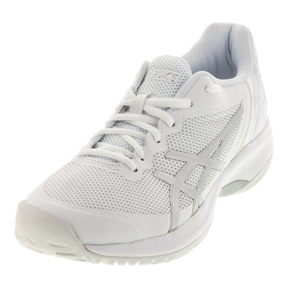 ASICS E850N Women's Gel-Court Speed Shoe B0716SG9B3 7.5 B(M) US|White/Silver