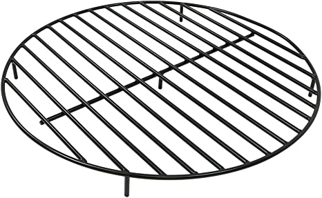 36 in 9-Bar Steel Wood Fireplace Grate Large Heavy Duty Thick Solid Bar Rods