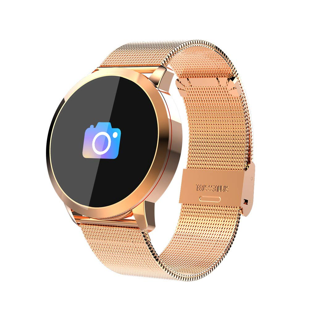 HSKK Round Screen Smart Watch, Waterproof Step Counter Sports Phone Information to Remind The Wristband Heart Rate Monitoring-4 by HSKK