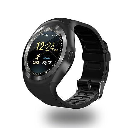 TOP-MAX Smartwatch Y1 Bluetooth Smart reloj negro con ...