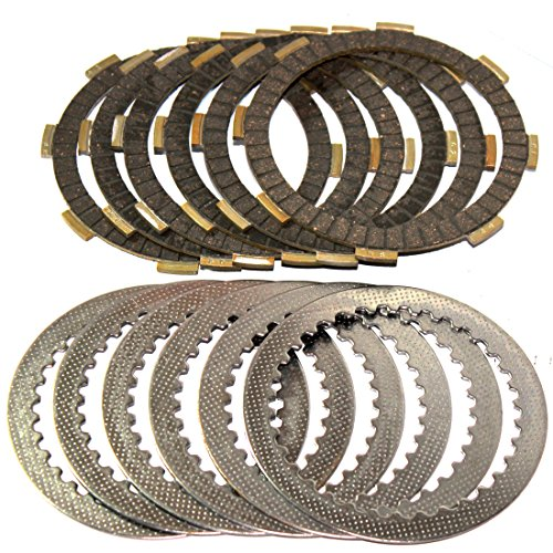 Caltric CLUTCH FRICTION & STEEL PLATES Fits HONDA CMX250C CMX-250C Rebel 250 1987-2014 - Steel Clutch Plate