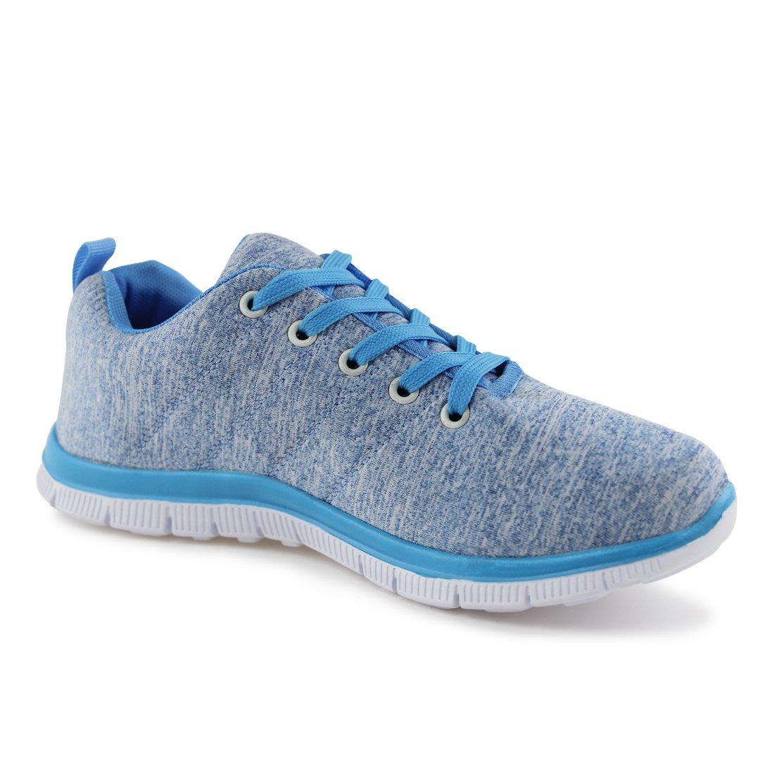 Hawkwell Women's Light Weight Sport Fashion Sneaker B071F5LSQ3 8 B(M) US|Blue