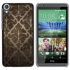 MOBMART Carcasa Funda Case Cover Armor Shell PARA HTC Desire 820 - Dark Floral Drawings