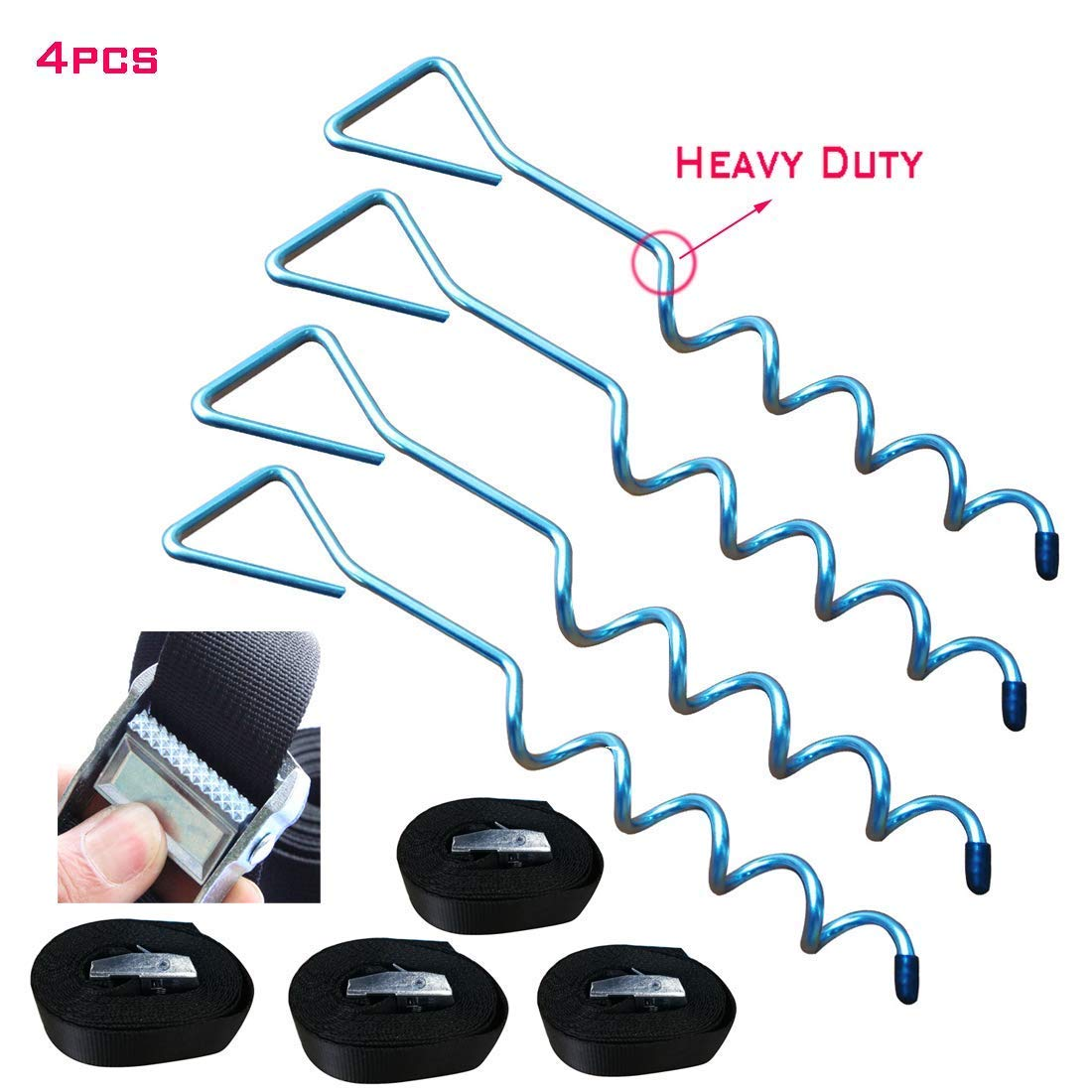 Trampoline Accessories Trampoline Stakes Trampoline Anchors Trampoline Stakes Anchors Stakes Heavy Duty Wind Stakes Trampoline Anchor Kit Trampoline Anchor Heavy Duty Stakes Trampoline Tie Down Kits by Deep Touch