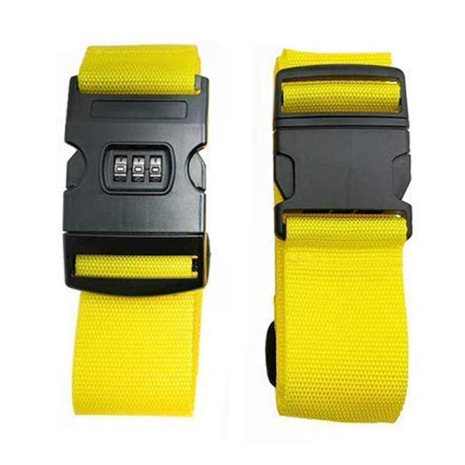 CHMETE Travel Suitcase Belts/Luggage Straps, 2pcs-yellow by CHMETE (Image #2)