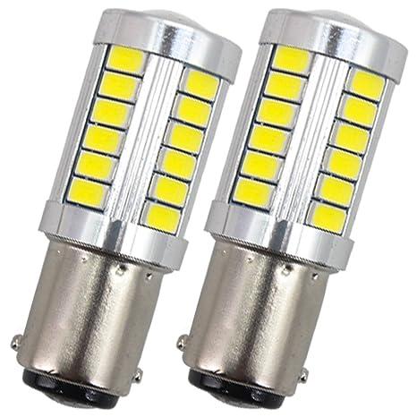Bombilla LED P21W 12V 1156 BA15S 7506 1003 1073 1141 Blanco para coche SUV RV Camper trasera estacionamiento intermitente ...