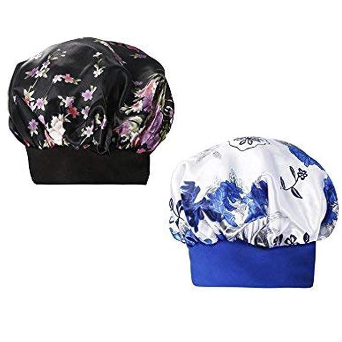 YLing Satin Bonnet for Women,Wide Band Soft Satin Sleep Cap Salon Hair  Bonnet for Sleeping