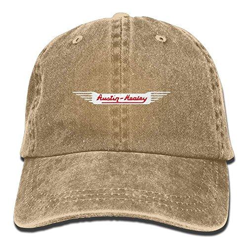 Austin Healey Car Classic Hiking Duck Unisex Cotton Washed Denim Travel Cap Hat Adjustable Natural