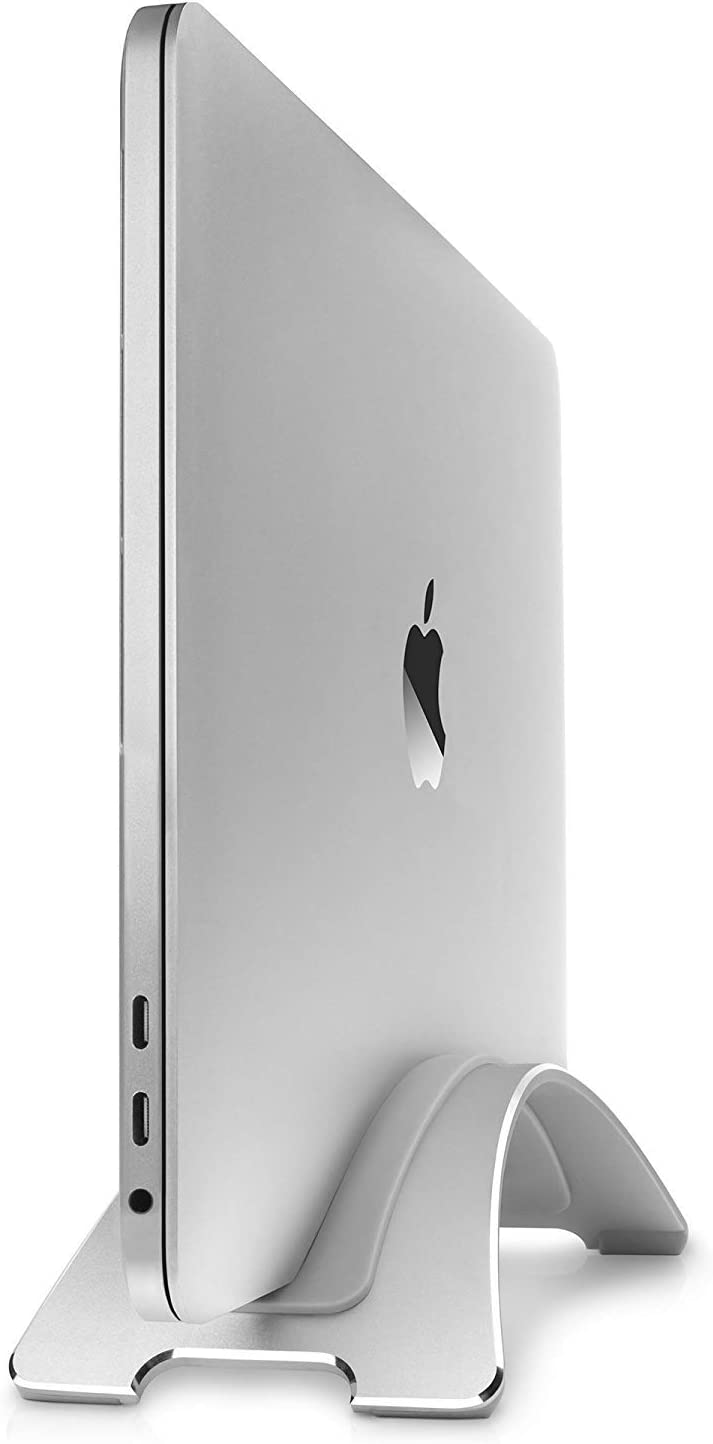 Twelve South Bookarc for MacBook | Space-Saving Vertical Desktop Stand for Apple Notebooks (Silver)