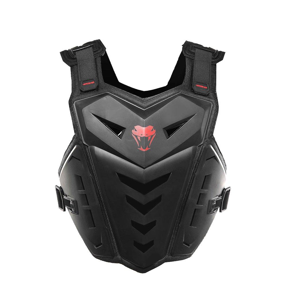 MagiDeal HEROBIKER Motocross Body Protector Motorbike Riding Armor Vest MC1007B Black