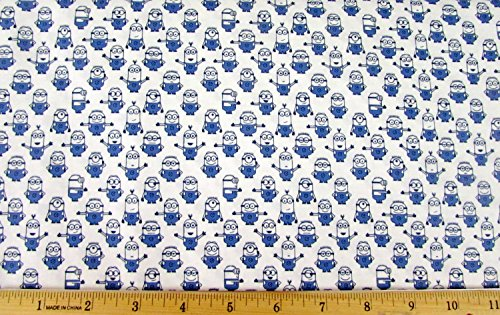 Despicable Me Mini Minions White Fabric by The -