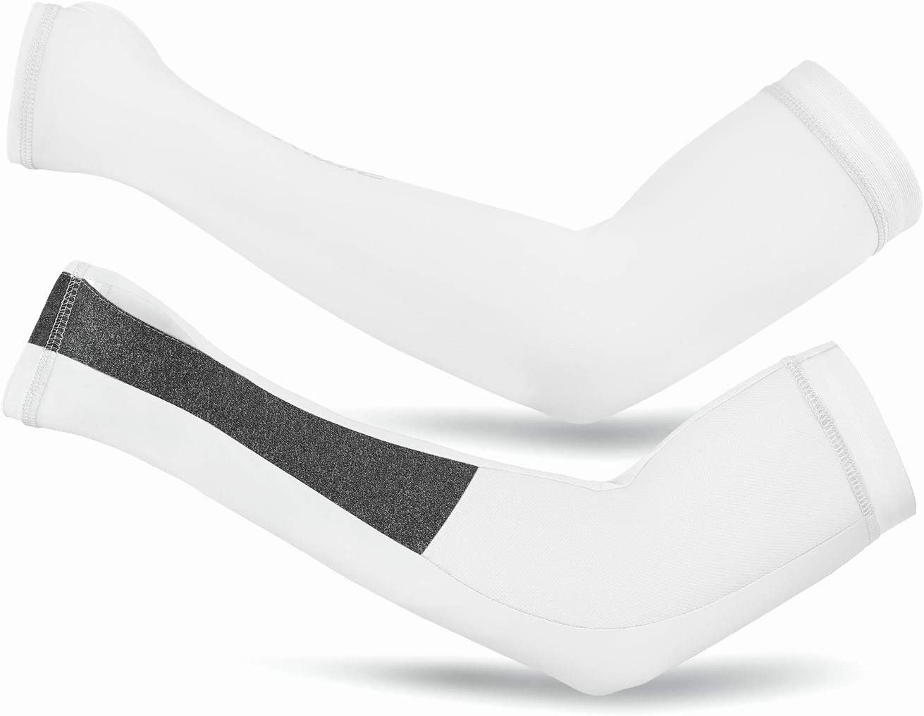 Vagasi Manchettes de Bras Protection UV UPF 50 Unisex Compression Manches Soie Glac/é Ultra Elastique pour Fitness Cyclism Basketball Course
