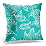 """interesting mediterranean patio decor ideas Emvency Throw Pillow Covers Tropic Stylish Colorful Floral Leaf with Text Flower Decorative Pillow Case Home Decor Square 20"""" x 20"""" Pillowcase"""