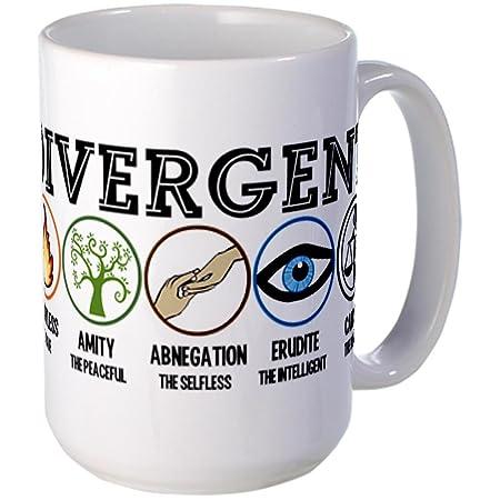 CafePress divergentes taza de tamaño grande de símbolos de ...