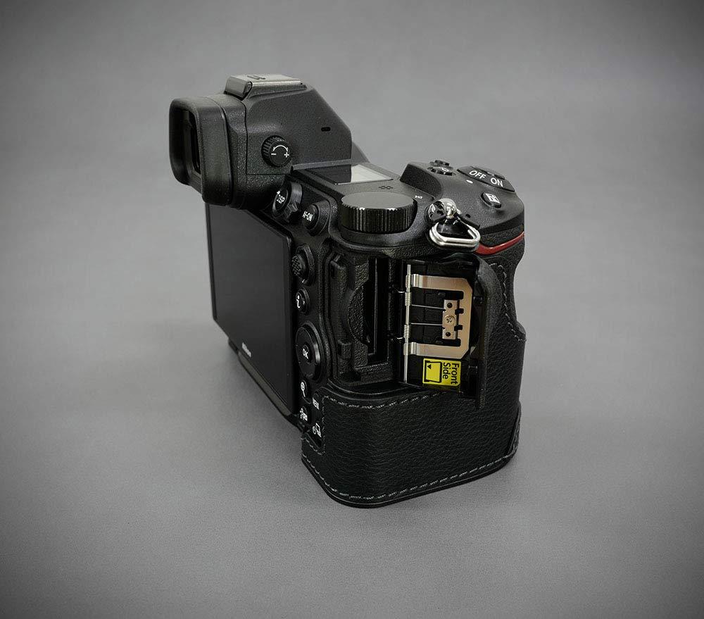 Brown Gariz Genuine Leather XS-CHDFBR Camera Metal Half Case for Nikon DF