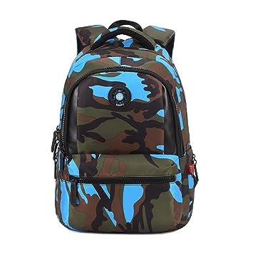 UEK Mochila Niño Camuflaje Mochilas escolares Impermeable de morrales de Multi-Función Viajes Volver Packs: Amazon.es: Equipaje