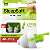 Alpine SleepSoft Sleep Ear Plugs – Sleeping Ear Plugs Reduce Snoring and Improve Sleep - Soft Filter Ear Plugs for Sleeping - Hypoallergenic Reusable Ear Plugs