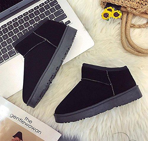 caldi stivali di da cotone da black scarpe neve pane moda da Scarpe velluto donna più scarpe donna piatte alla stivali di zq1npB6P