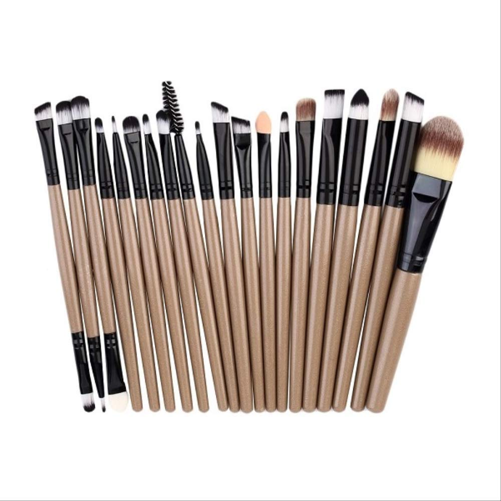 LFSHYP Makeup brush kit 20pcs/set Makeup Brushes Pro Blending Eyeshadow Powder Foundation Eyes Eyebrow Lip Eyeliner Make up Brush Cosmetic Tool as picture show