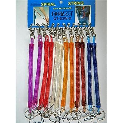 présentoir commerce 12 porte clés mousqueton métal Portefeuille pantalon spirale