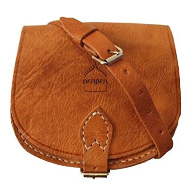 Genuine Moroccan Leather Small Saddle Bag