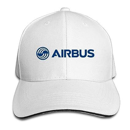 75746a724983b Amazon.com  GlyndaHoa Airbus Logo Blue Adjustable Snapback Caps Baseball  Peaked Hat White  Sports   Outdoors