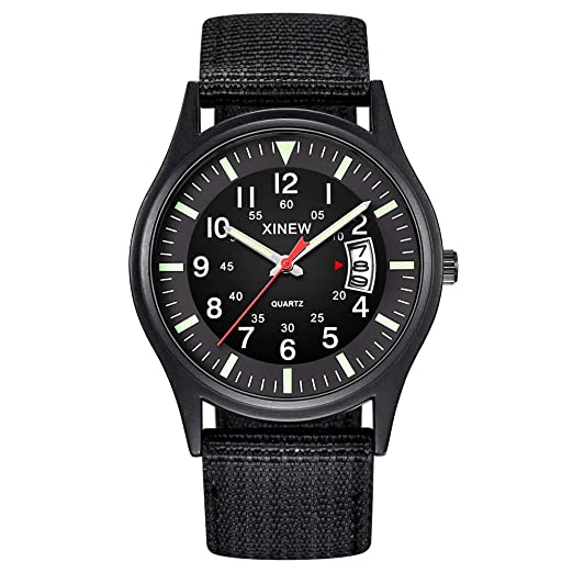 Military Army Watches for Men, DYTA Sport Watches Casual Outdoor Watchs Round Dial Nylon Strtap