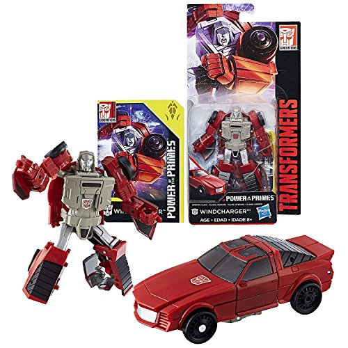 Transformers Year 2017 Generations Power of the Primes Series Legends Class 4 Inch Tall Figure - WINDCHARGER with Collector Card (Vehicle: Sports (Sports Power Card)