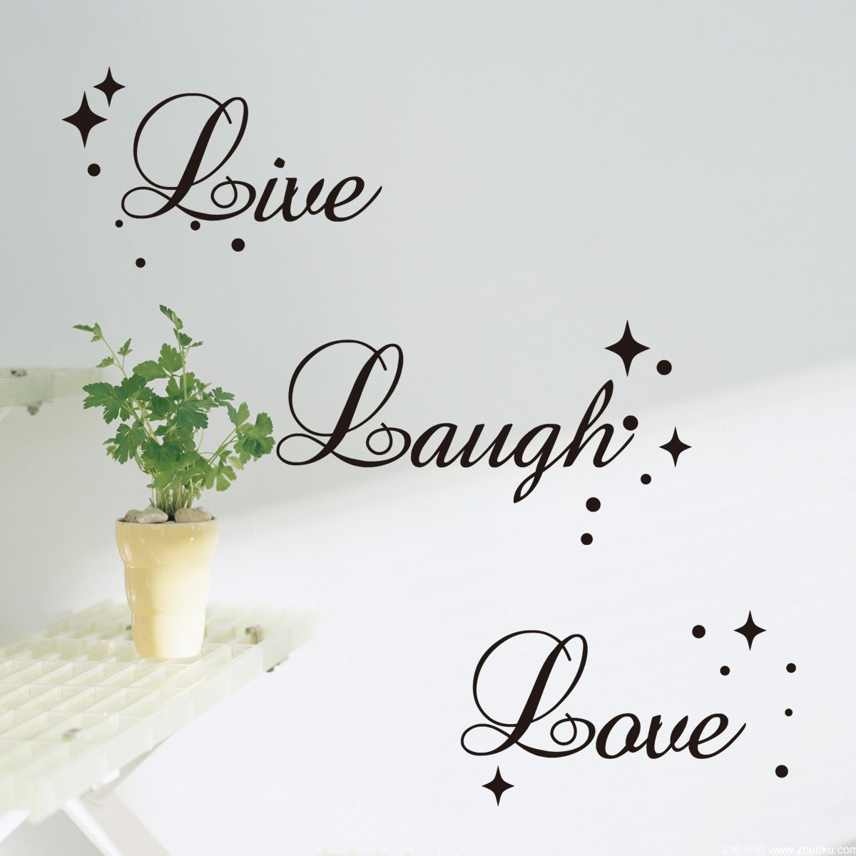 Fancy Writing Live Laugh Love Quote Wall Art Vinyl Sticker Decal Fashionable Decoration BlackLarge Size Amazoncouk Kitchen Home