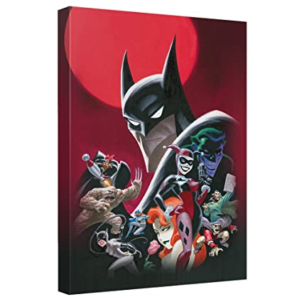 Amazon.com: Batman Animated Poster Officially Licensed Canvas Wall ...