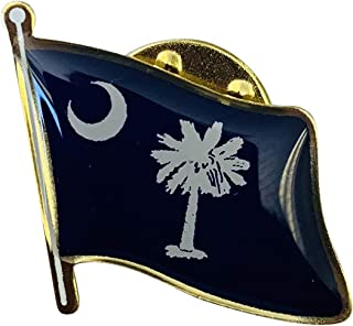 product image for South Carolina Single Waving State Flag Lapel Pin - Made in The USA