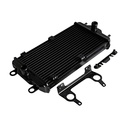 XMT-MOTOR Moto Enfriador de aceite del Radiador con Soporte Negro ...
