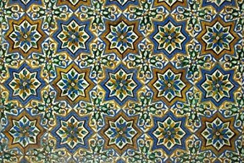 Moorish Mosaic Azulejos (ceramic tiles) Casa de Pilatos Palace Sevilla Spain Poster Print by John & Lisa Merrill (36 x 24)