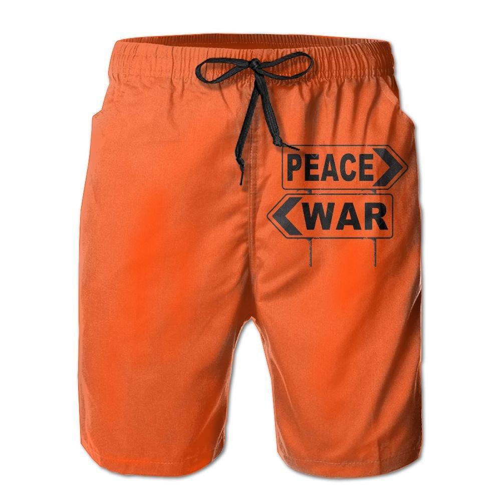 Make Love Not War Fight for Peace Boardshorts Mens Swimtrunks Fashion Beach Shorts Casual Shorts Boardshort