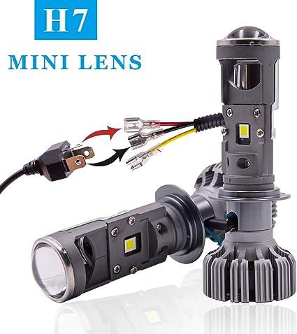 JAVR - Par de 1 - Blanco H7 LED Mini lente del proyector ...