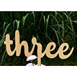 Sundarling 1-12 Wooden Table Numbers on Sticks