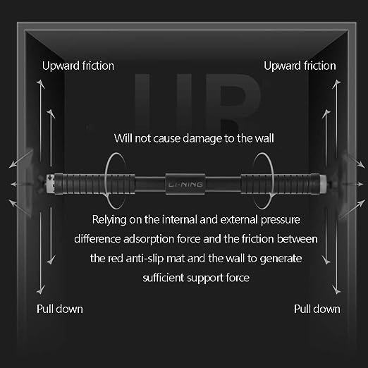 MezoJaoie Sbarra per Sollevamento Set regolabile per porte con larghezza di 60 cm-100 cm per tiranti per attrezzi fitness Esercizio per braccia