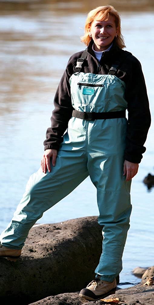 Caddis Women's Attractive Teal Deluxe Breathable Stocking Foot Chest Wader, Large Queen