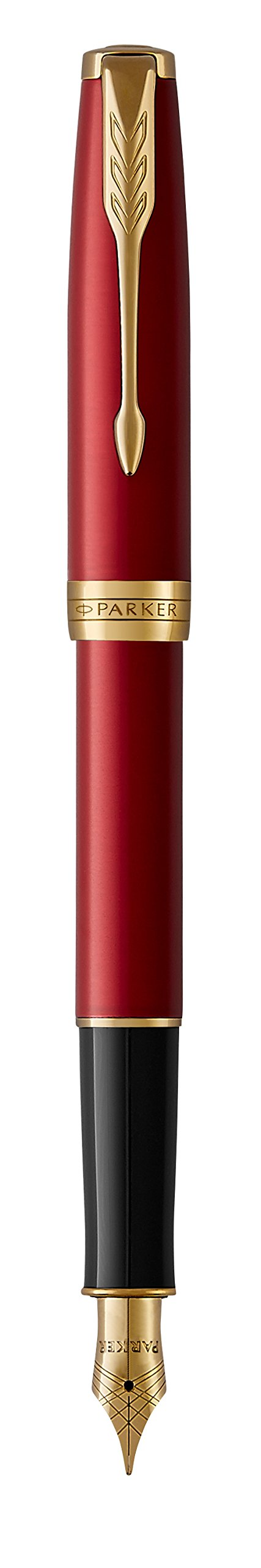 PARKER Sonnet Fountain Pen, Red Lacquer with Gold Trim, Medium Nib (1931474) by Parker (Image #5)