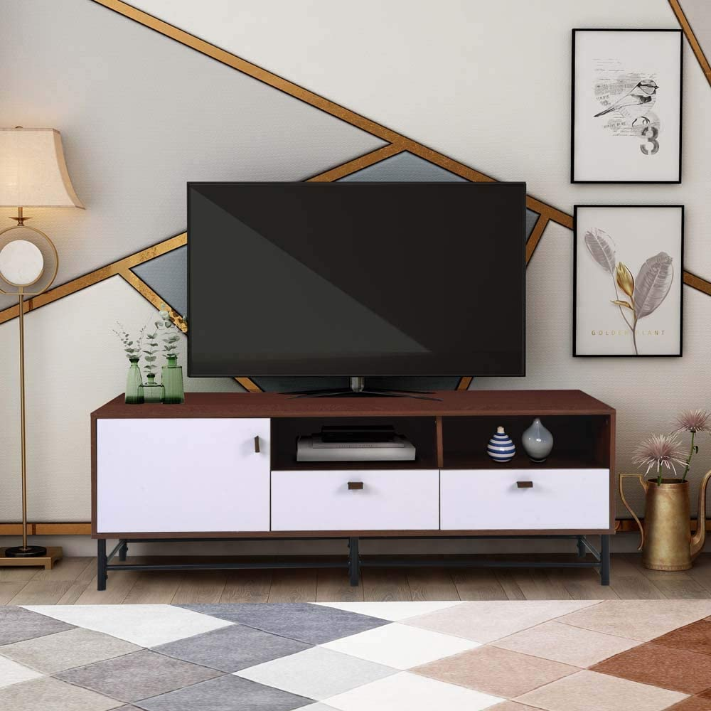 Amazon coupon code for  TV Media Stand with Metal Legs