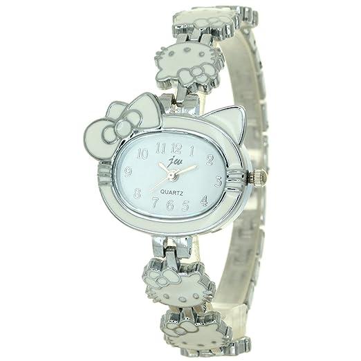e3abc0c7b Fashion Women Ladies Rhinestone Crystal Kitty Chain Bracelet Kitty Shape  Case Dial Analog Quartz Wrist Watch