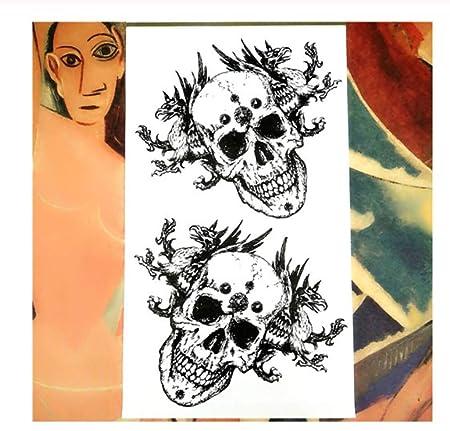 DRTHUKG Etiqueta Engomada del Tatuaje Black Dragon Totem Tatuaje ...