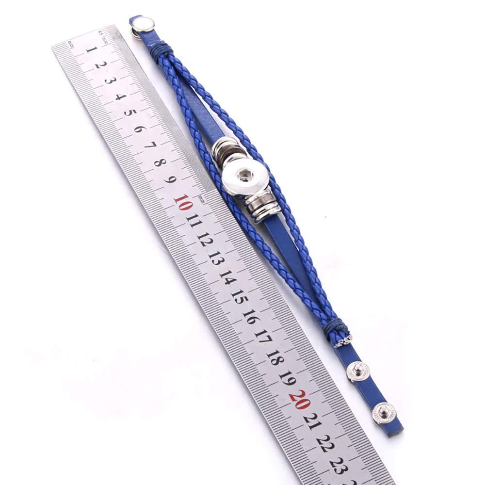 Lovglisten 10pcs Bracelet Bangle for 18mm Snap Button Jewelry 3