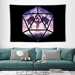 Dungeons and Dragons Purple Sky Tapestry Wall Hanging,Beach Blanket Tapestry,Dorm Room Bedroom Home Decor 60×40 Inch