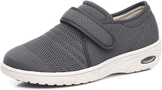 AUZZO HOME Zapatos para Caminar para diabéticos Ancianos Zapatos ...