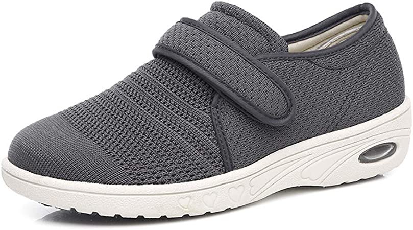 AUZZO HOME Zapatos para Caminar para diabéticos Ancianos Zapatos para Hombre de Malla Extra Ancha Ajustable Fascitis Plantar Zapatillas ortopédicas para pies Edema y Artritis en los pies,Marrón,49: Amazon.es: Hogar