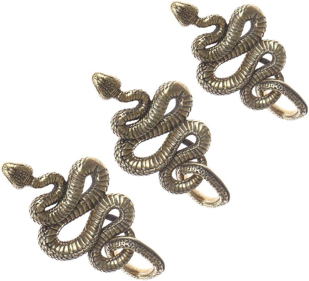 3 Pcs Brass Snake Keychains Key Ring Pendant Necklace Copper Boa Key Chains Ornaments Keyring with Ring Backpack Decor Handmade Mens Car Hanging Gift Outdoor Clothing Jewelry Small Accessories