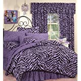 Zebra Purple Bed in a Bag Set, Queen by Kimlor
